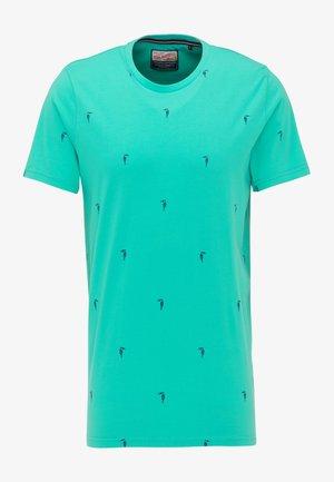 Print T-shirt - light sea green