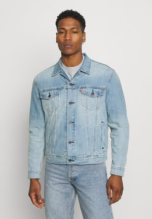 THE TRUCKER JACKET UNISEX - Kurtka jeansowa - light indigo/worn in