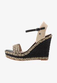 Pepe Jeans - OHARA LOGO - High heeled sandals - black - 1