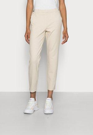 MIA SLIM - Trousers - cloud grey melange