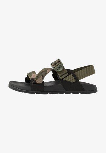 LOWDOWN - Walking sandals - rambling moss