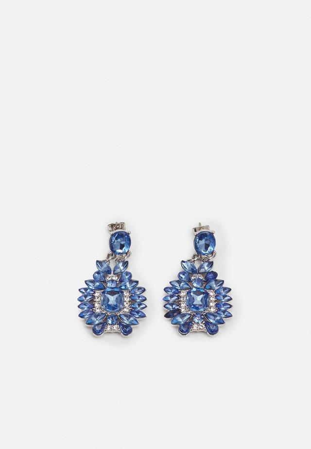 PCSARINA EARRINGS - Kolczyki - silver-coloured/blue