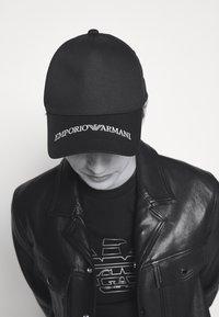 Emporio Armani - BASEBALL HAT UNISEX - Gorra - black - 1