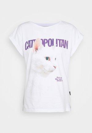 VISBY CATMOPOLITAN - Print T-shirt - white
