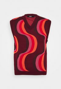 Jaded London - 70S WAVE - Jumper - red - 4