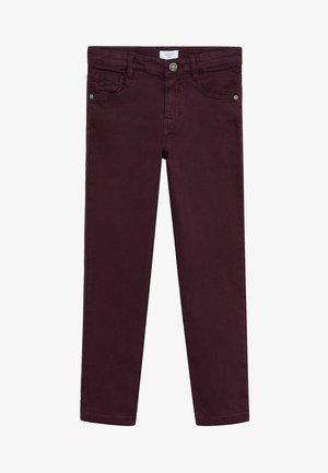 PERU - Straight leg jeans - bordeaux