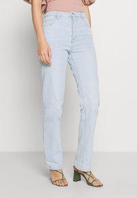Cotton On - HIGH STRETCH - Straight leg jeans - light-blue denim - 0