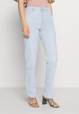HIGH STRETCH - Straight leg jeans - light-blue denim