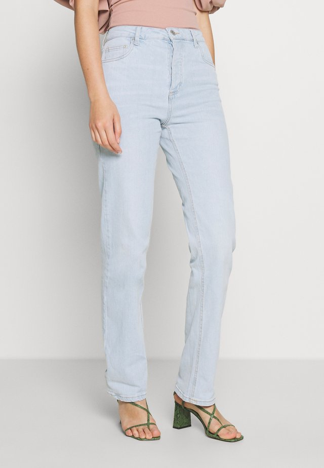 HIGH STRETCH - Straight leg jeans - light-blue denim