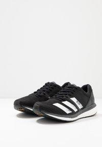 adidas Performance - ADIZERO BOSTON 8 - Laufschuh Wettkampf - core black/footwear white/grey five - 2