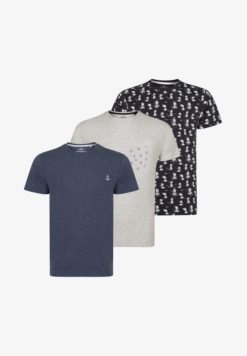 Threadbare - 3 PACK - Print T-shirt - multi