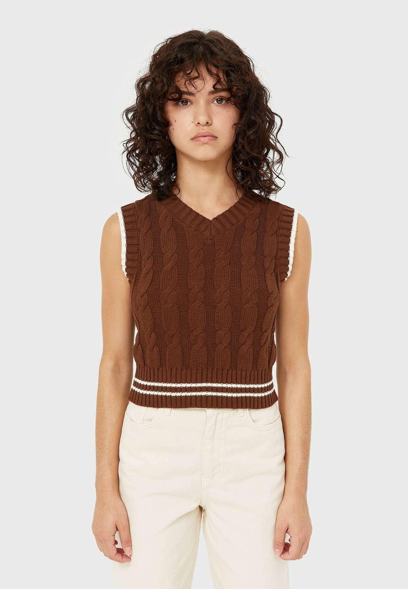Femme MIT ZOPFMUSTER  - Pullover