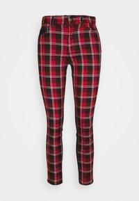 CHECK - Slim fit jeans - rojo