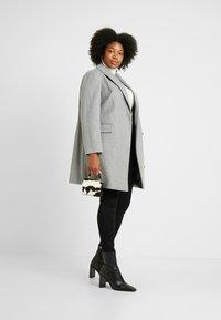 Dorothy Perkins Curve - MINIMAL LINED - Krátký kabát - grey marl - 1