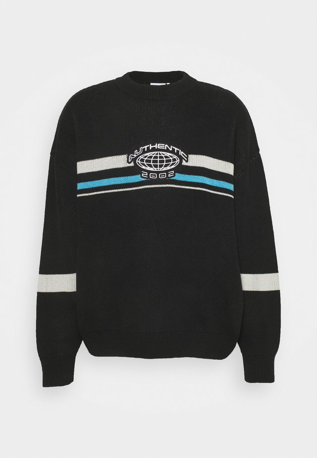 UNISEX JOHN COLOURBLOCK SWEATER - Sweter - black/blue/grey
