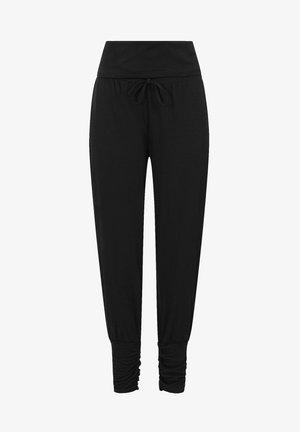 ROLL TOP HAREM YOGA - Trousers - black
