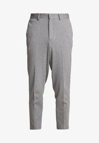 SLHSLIMTAPERED NEWJERSEY CROP PANTS - Kalhoty - grey melange