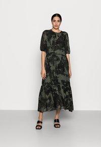 InWear - YASMEEN LONG DRESS - Maxi dress - green camouflage - 0