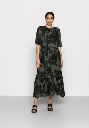 YASMEEN LONG DRESS - Maxi dress - green camouflage