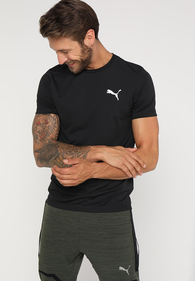 Puma - ACTIVE TEE - T-shirts - black