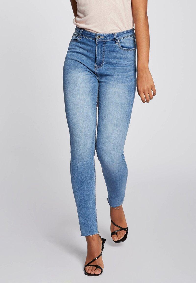 Morgan - Slim fit jeans - bleached denim