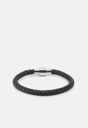 PLAITED BRACELET WITH MAGNETIC CLOSURE - Bracciale - black
