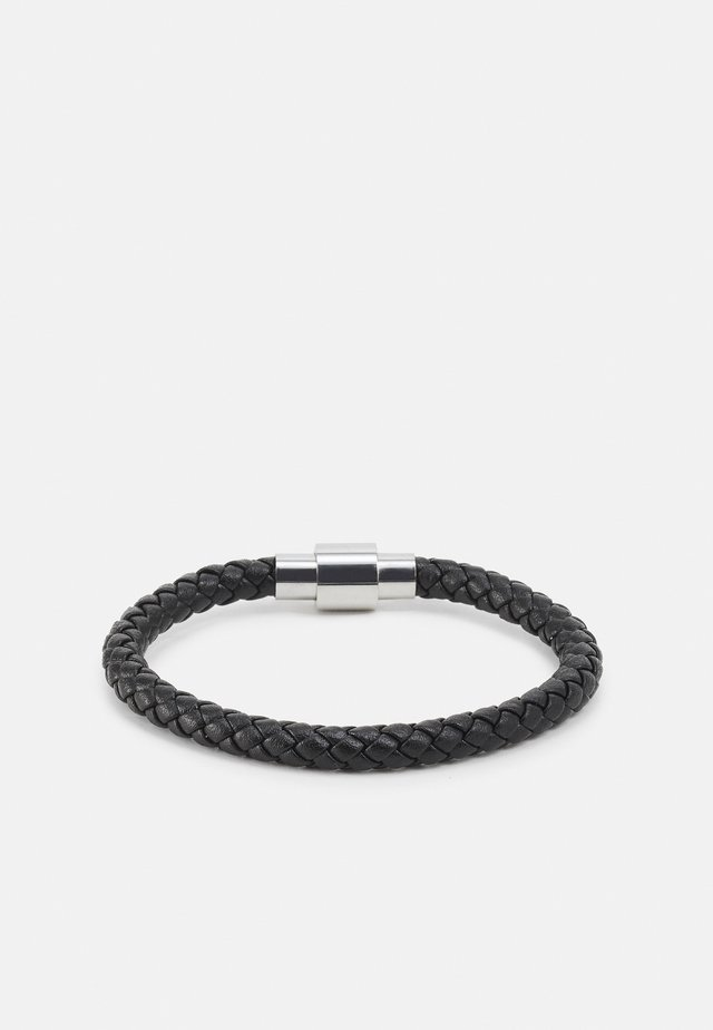 PLAITED BRACELET WITH MAGNETIC CLOSURE - Armband - black