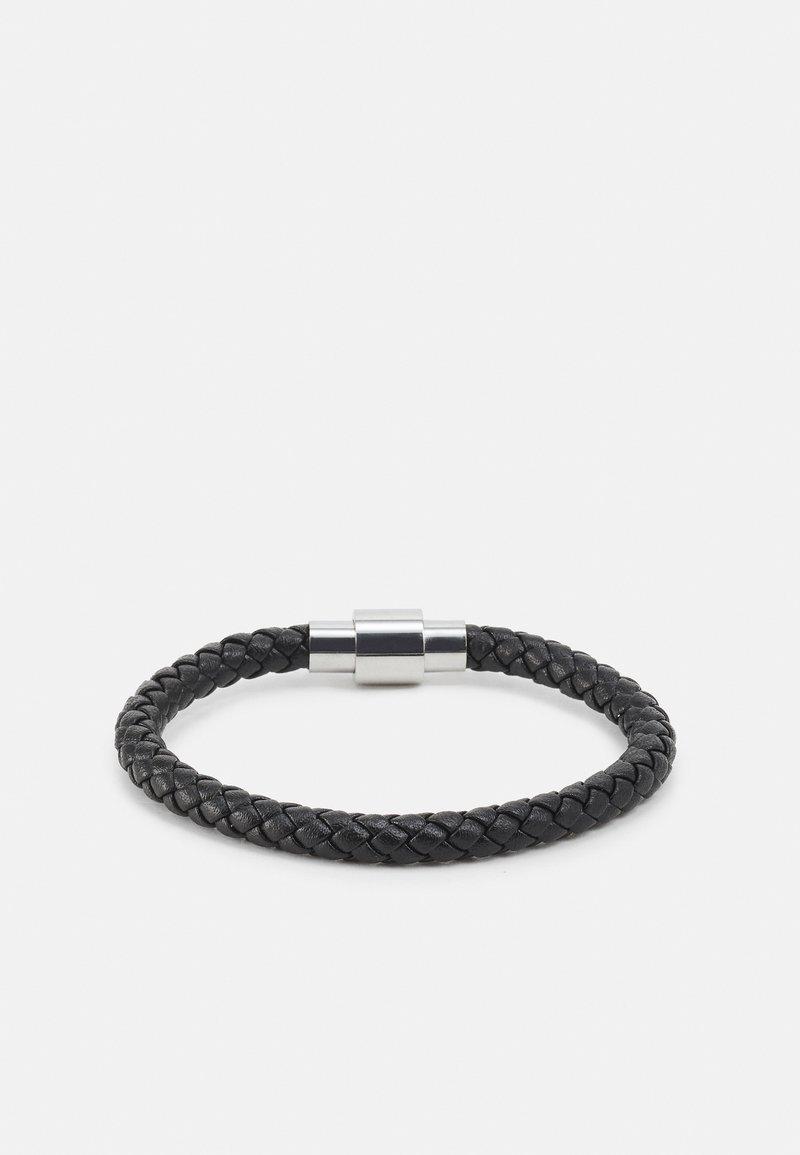 Icon Brand - PLAITED BRACELET WITH MAGNETIC CLOSURE - Bracelet - black