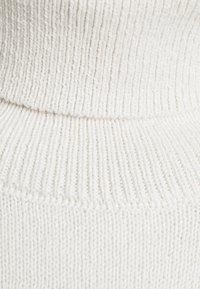 NU-IN - ROLL NECK MINI DRESS - Jumper dress - off-white - 5