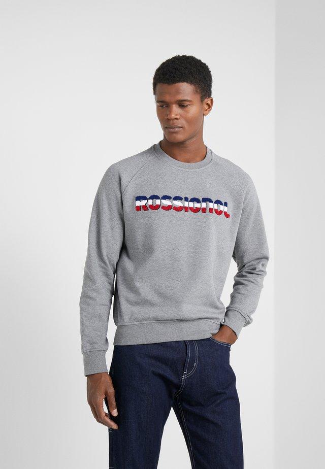 FLOCKED LOGO - Sweatshirt - heather grey