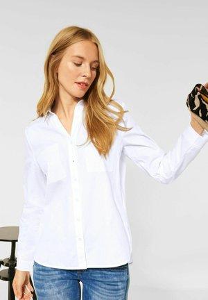 BASIC - Button-down blouse - weiß