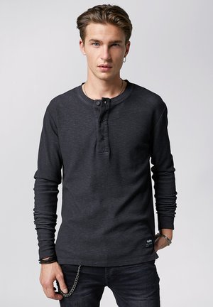 ZACH WAFFLE - Long sleeved top - vintage black
