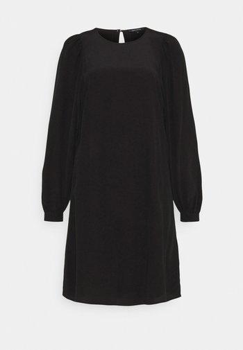 DRESS EASY SHORT STYLE ROUND NECK - Vestido informal - black