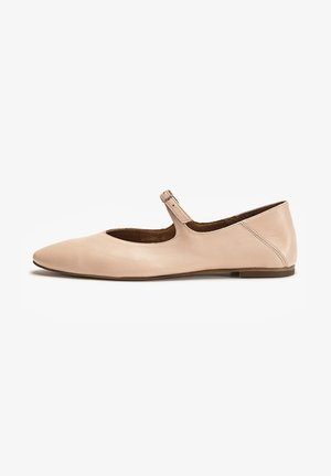 Ankle strap ballet pumps - blush blh
