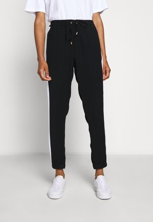 STRIPE TRACK PANT - Trousers - black