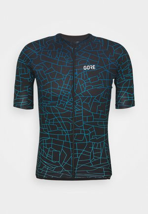 GOTHAM MENS - Print T-shirt - black/sphere blue