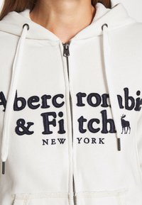 Abercrombie & Fitch - LONG LIFE FULL ZIP - Hettejakke - white - 6