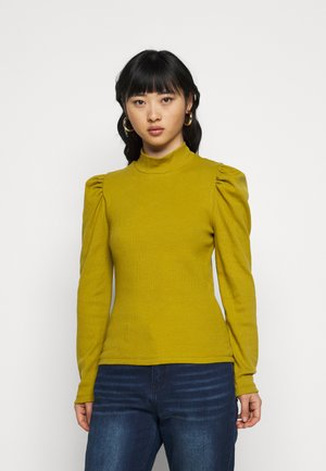 PCANNA T NECK - Long sleeved top - ecru olive
