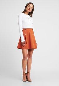 Even&Odd Petite - A-line skirt - brown - 1