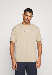 Jack & Jones - JORSCRIPTT TEE CREW NECK - T-Shirt print - crockery - 0