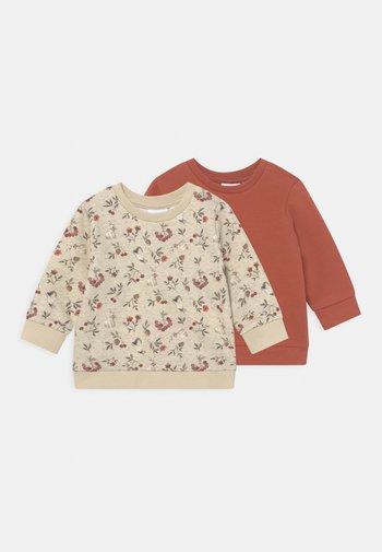 NBFNIKOLINE SET - Sweatshirt - peyote melange