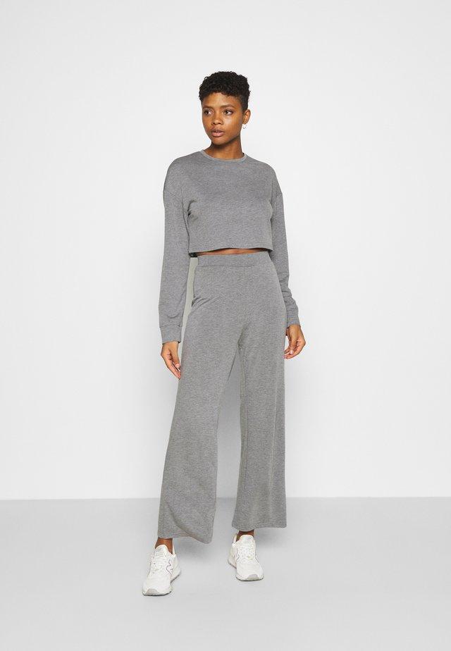 SWEAT SET WIDE LEG TROUSER - Chándal - mottled grey