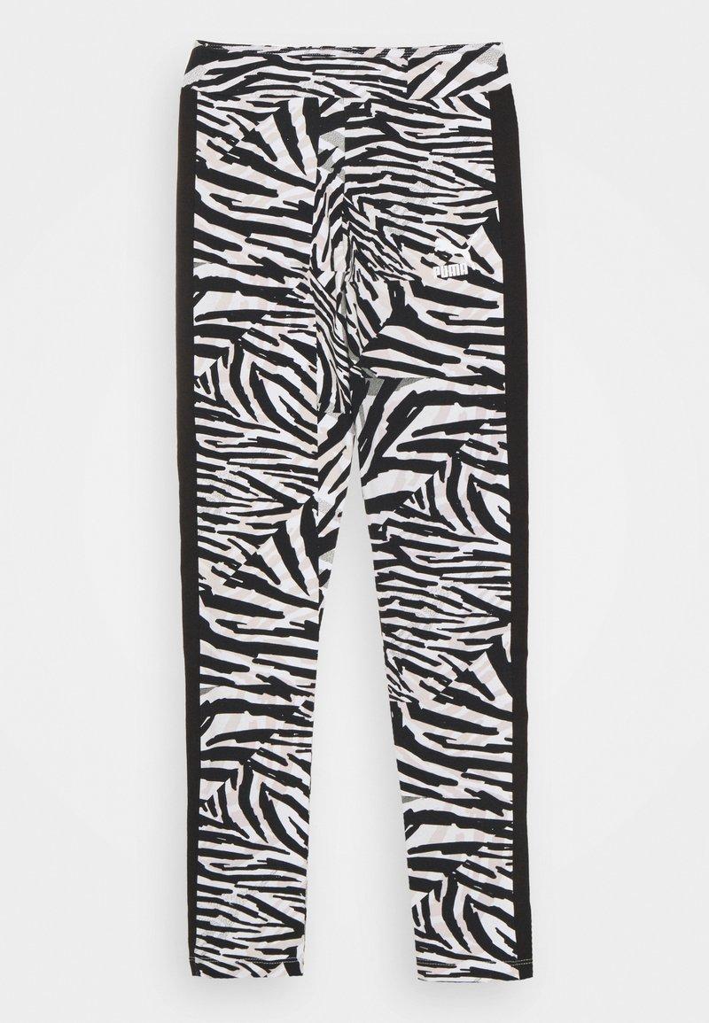 Puma - CLASSICS SAFARI LEGGINGS - Leggings - white/black