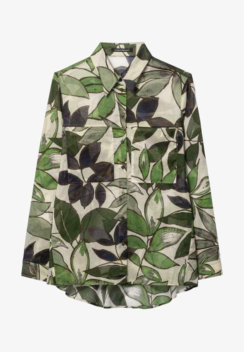 Luisa Cerano - MIT LEAF-PRINT - Button-down blouse - multi