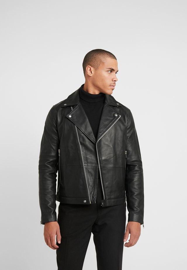 SPIKE JACKET  - Veste en cuir - black