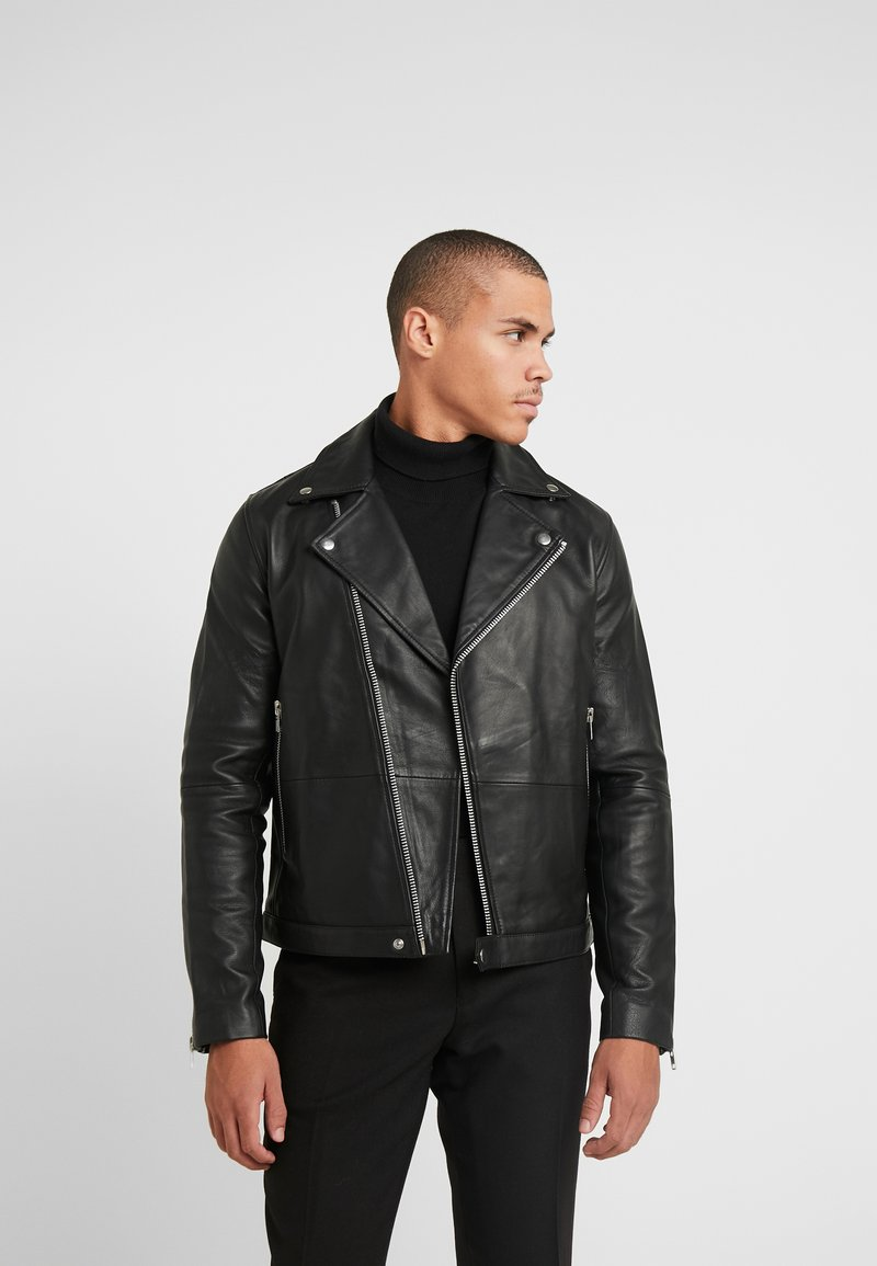 Samsøe Samsøe - SPIKE JACKET  - Leather jacket - black