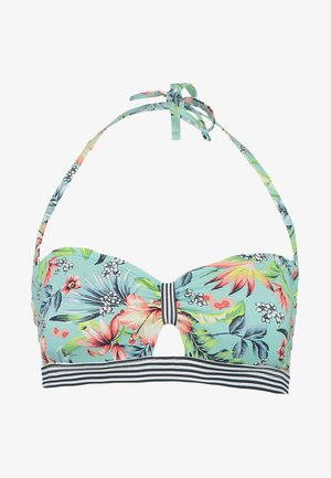 SOUTH BEACH BANDEAU PADDED - Bikini top - turquoise