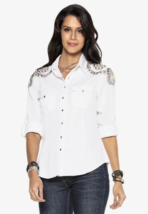 WH119 - Button-down blouse - weiss