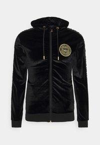 Glorious Gangsta - MATEO ZIP HOODIE - Zip-up hoodie - jet black - 0