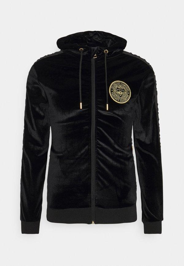 Glorious Gangsta MATEO ZIP HOODIE - Bluza rozpinana - jet black/czarny Odzież Męska GHZQ